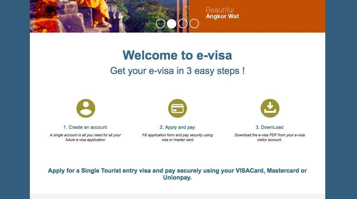 E-VISA SCREEN FOR CAMBODIA