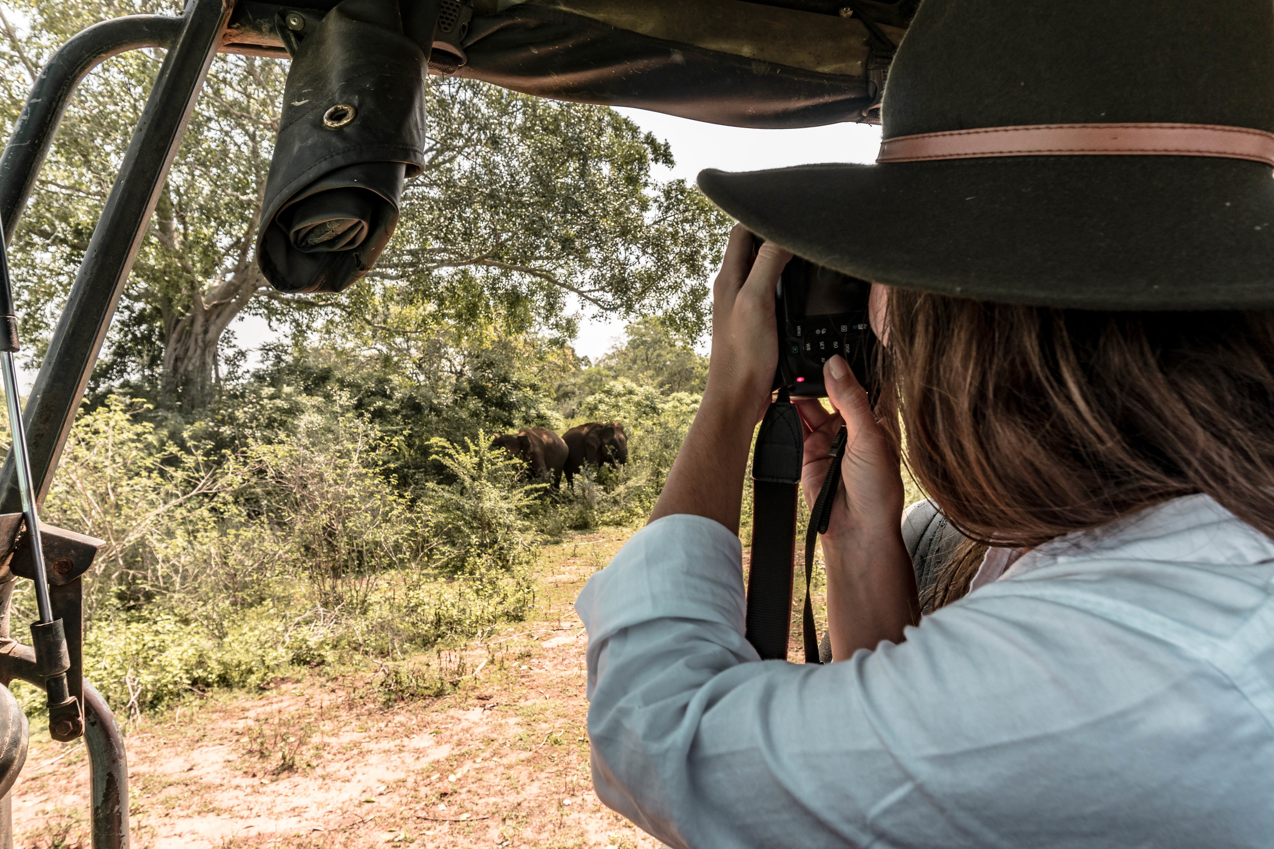 A CANDID PHOTO LUKE TOOK OF ME TAKING PHOTOS OF ELEPHANTS