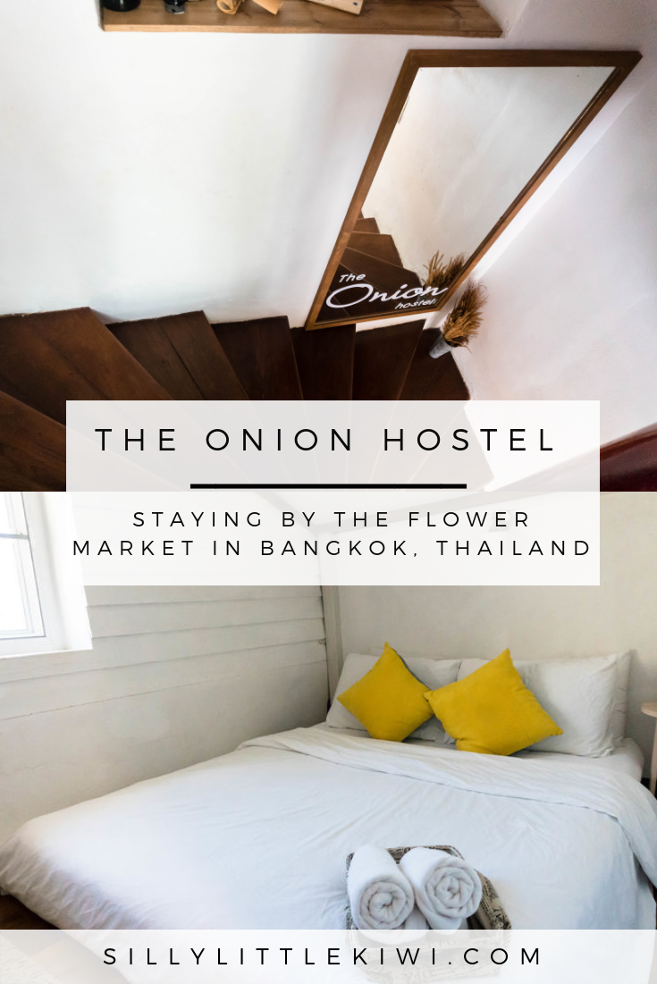 a full review of The Onion Hostel in Bangkok, Thailand