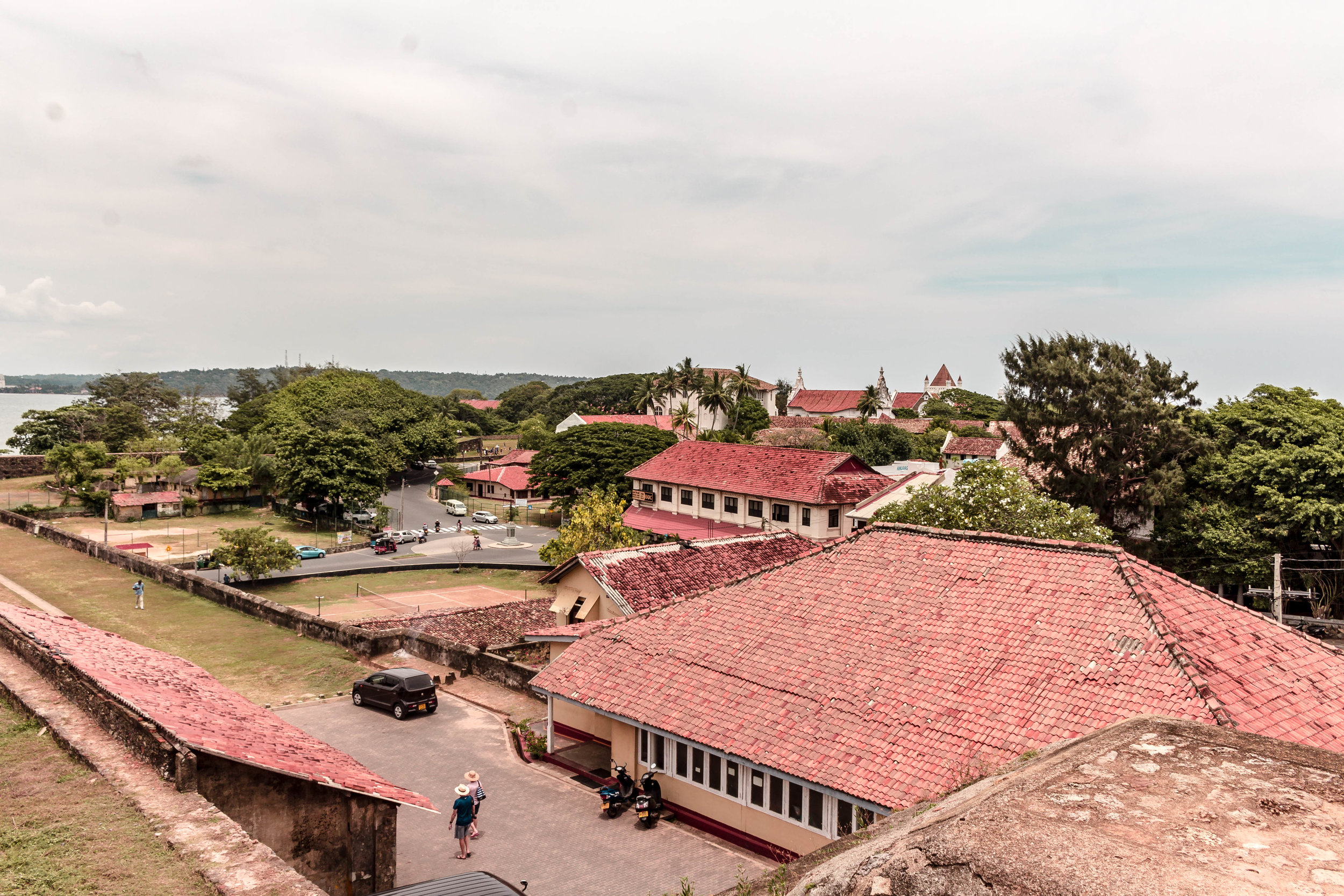 THE RED ROOFS OF GALLE, SRI LANKA