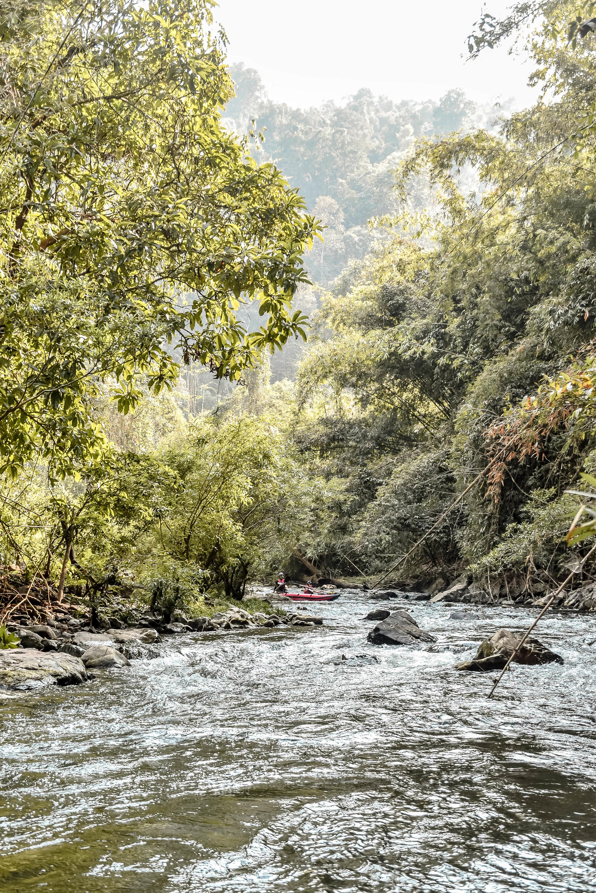 KAYAKING THE NAM HA RIVER IN LAOS