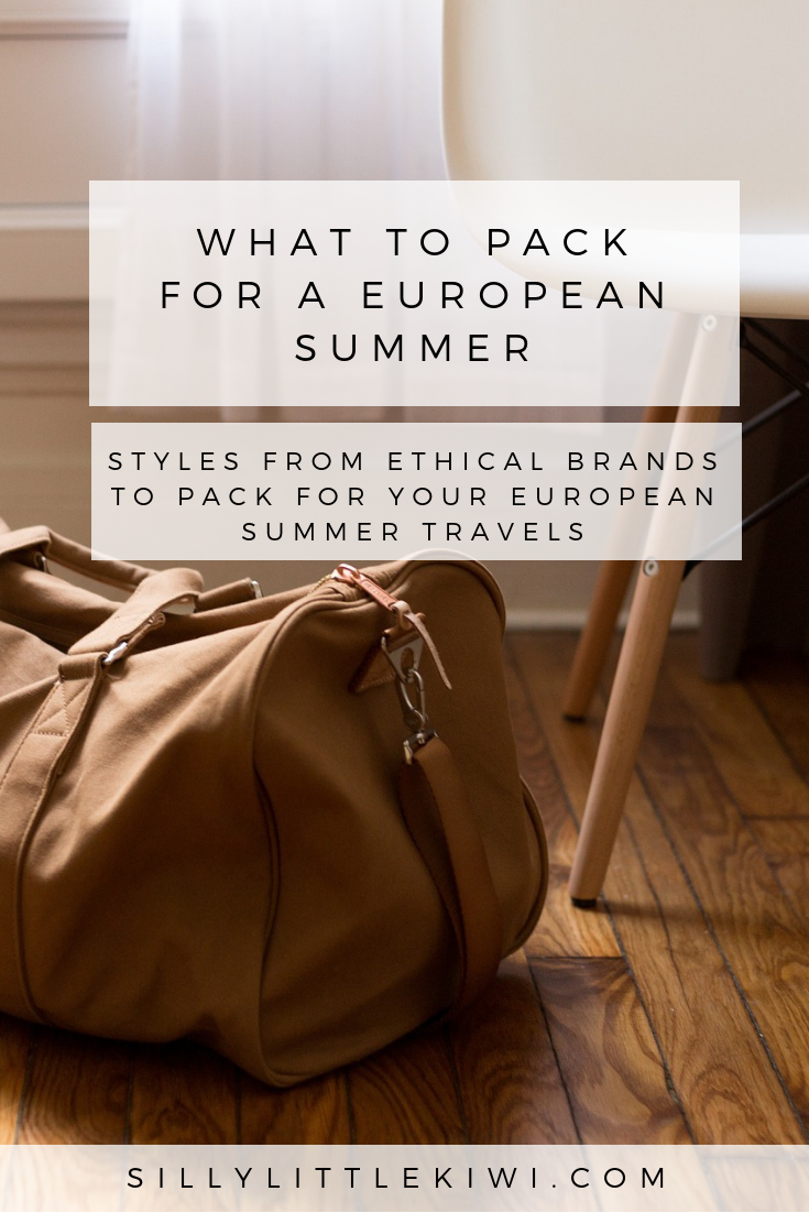 what to pack for a european summer