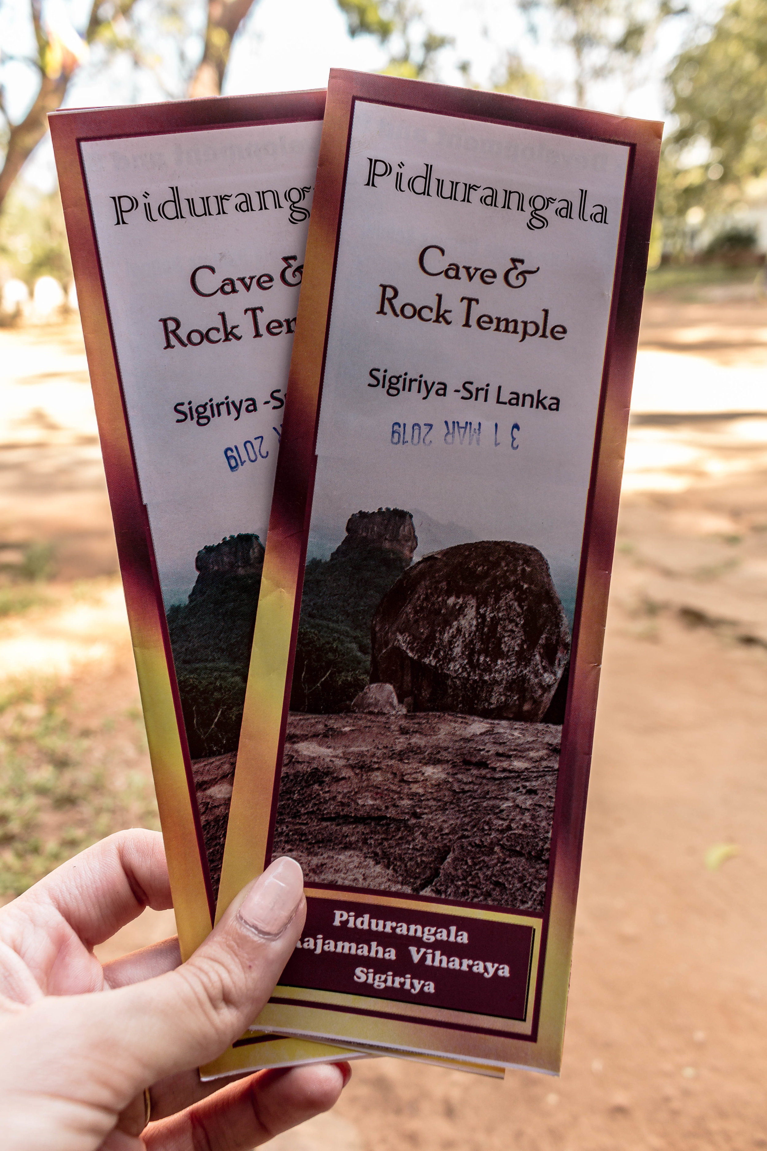 ENTRY TICKETS TO PIDURANGALA