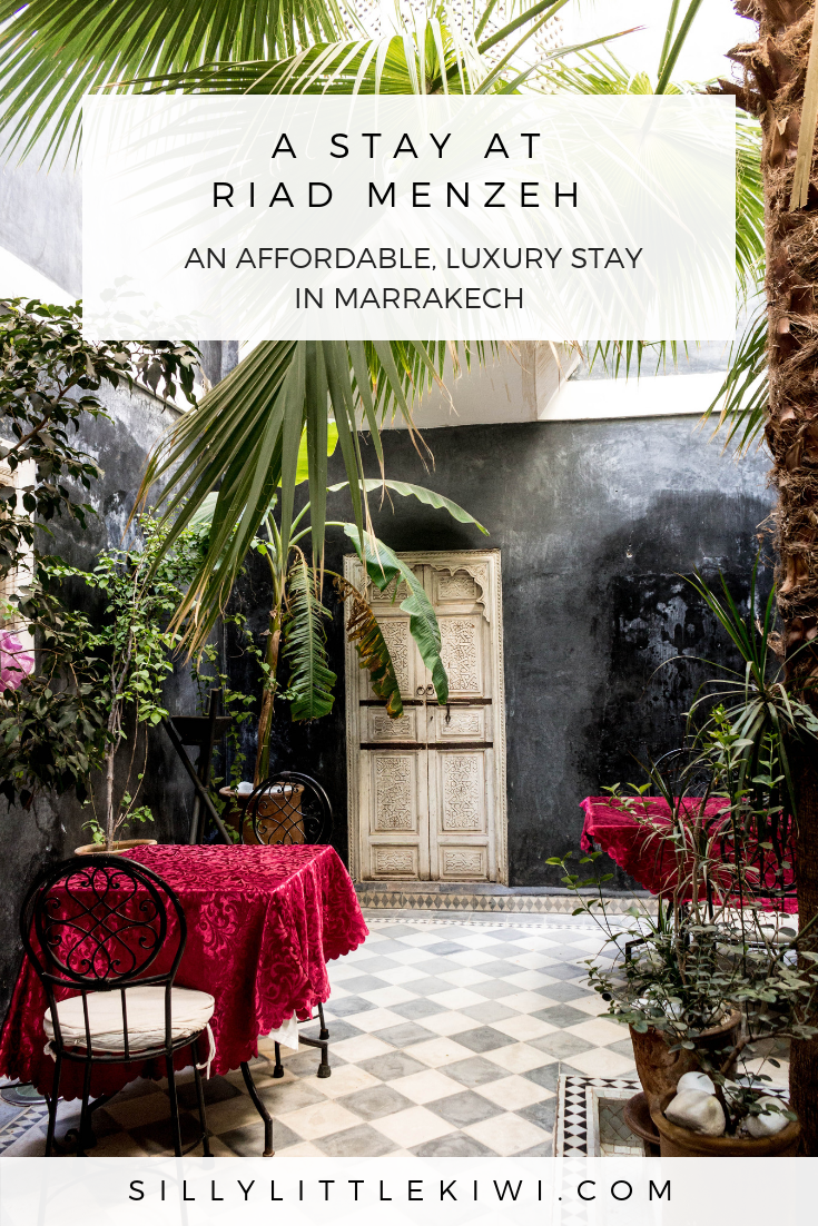 Riad Menzeh: the most affordable luxury riad in Marrakech, Morocco