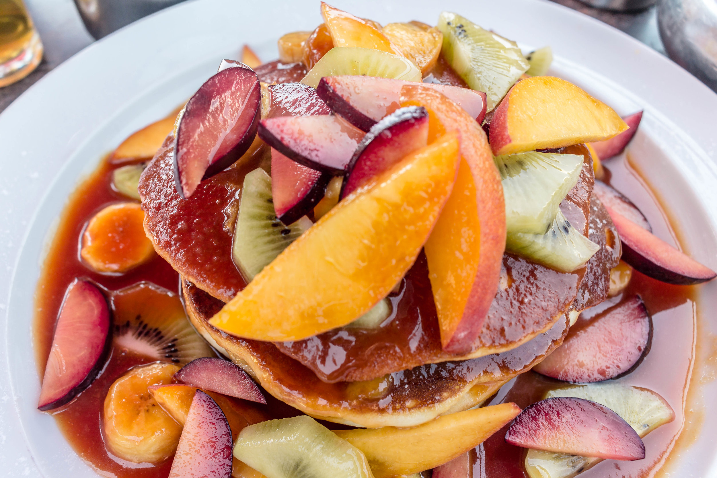 FRUITY PANCAKES FROM CLOCK CAFÉ