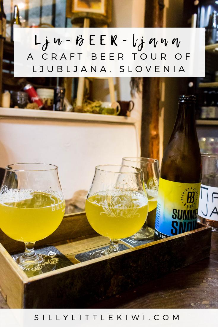 Lju-beer-ljana: a locally-led craft beer tour of Ljubljana, Slovenia #ljubljana #sloveniathingstodo
