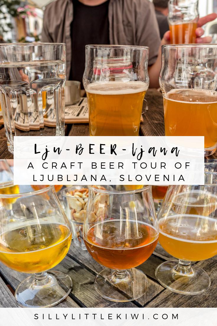 Lju-beer-ljana: a locally-led craft beer tour of Ljubljana, Slovenia #sloveniatravel #sloveniathingstodo #ljubljana