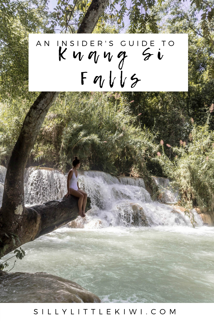 the ultimate guide to Kuang Si Falls: every tip + trick travel blogs don't tell first-time visitors #kuangsi #luangprabang #laos #laostravel