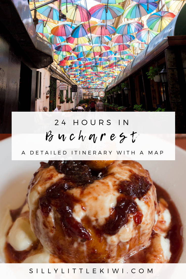 how to spend 24-hours in Bucharest, Romania: a detailed 1-day itinerary for Bucharest with a map #bucharest #bucharestthingstodo #bucharesttravel