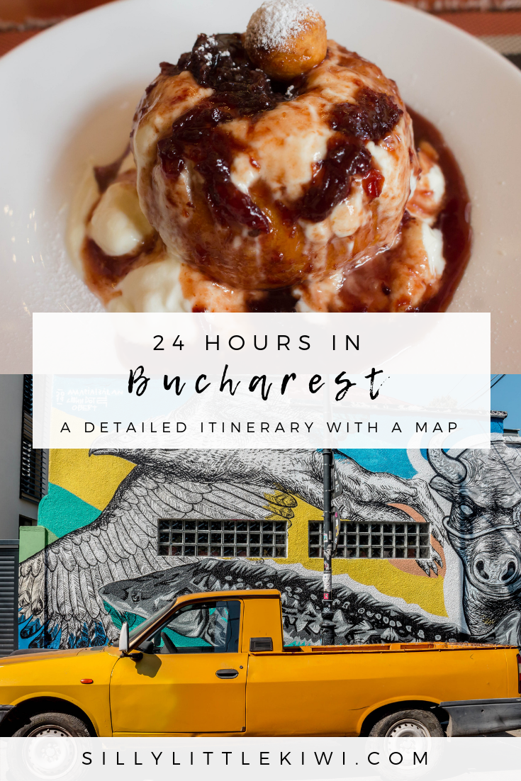 how to spend 24-hours in Bucharest, Romania: a detailed 1-day itinerary for Bucharest with a map