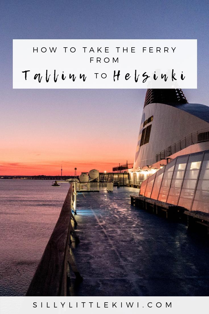 how to take the ferry from Tallinn to Helsinki for €15 #helsinkitravel #europetravel #thingstodotallinn