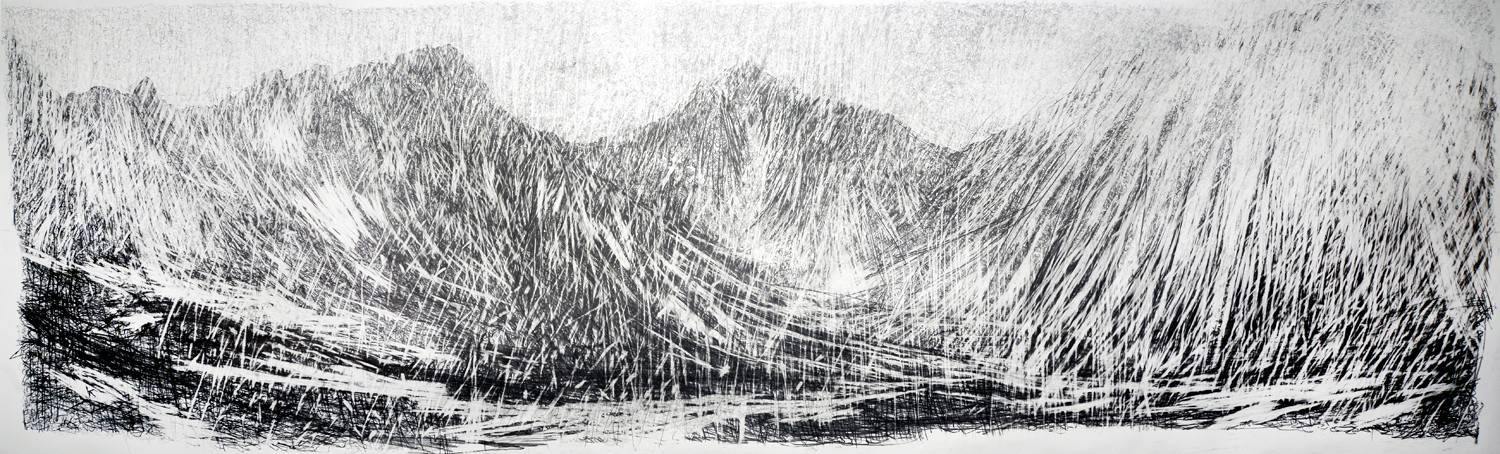 Keith_Salmon-2_A_January_afternoon_Glen_Rosa_Isle_of_Arran_Graphite_on_paper_2014_450_cm_c_150_cm.jpg