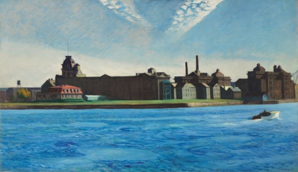 Edward Hopper, Blackwell's Island, oil on canvas, 35 x 60 inches, 1928.   Estimated value: $15 million - $20 million.