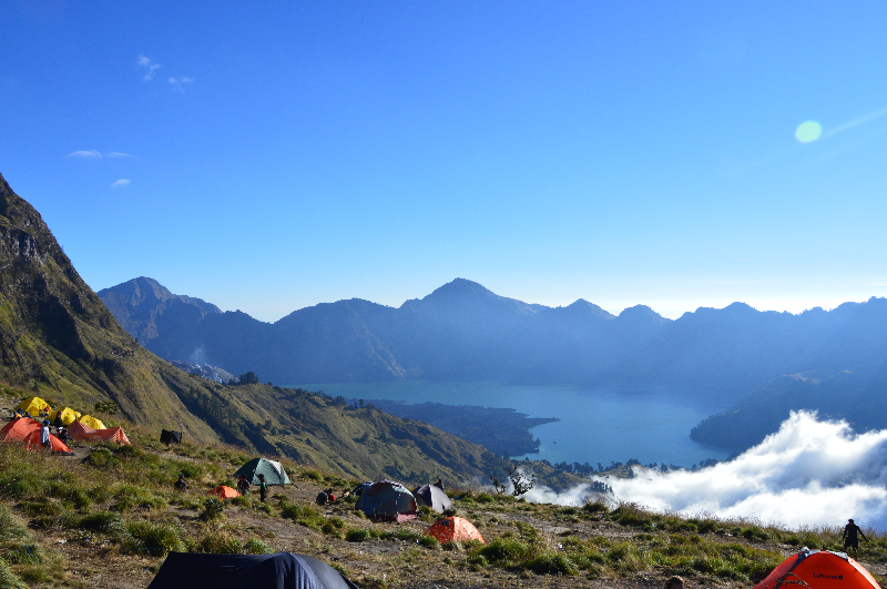 At 3,726m, the very top of Mt Rinjani