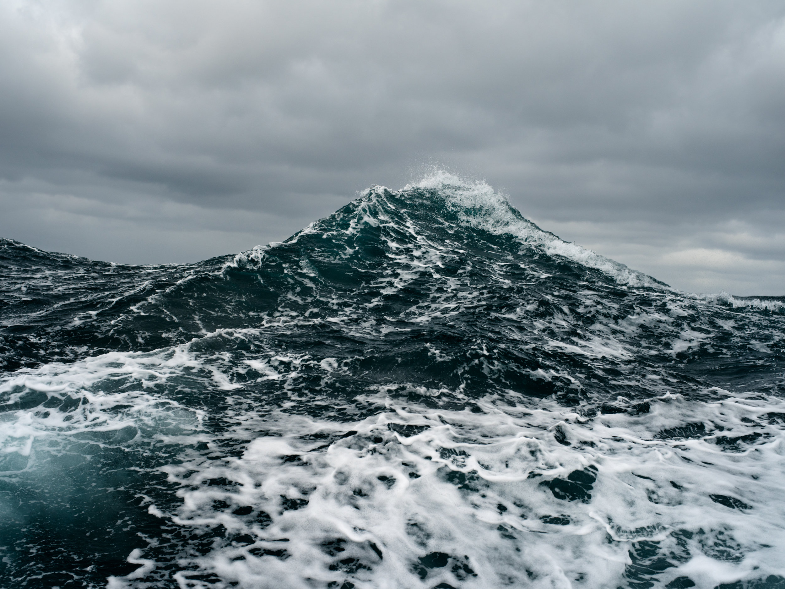 """Wake and Sea"", a photograph by Corey Arnold, whose work is view April-May 2017 at Charles A. Hartman Fine Art, in Portland, Oregon"