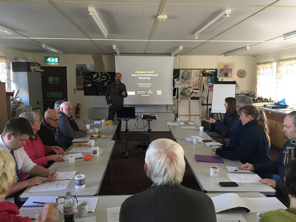 Stakeholder workshop exploring how the island's prehistoric archaeology could benefit islanders. Photograph by K Brophy.