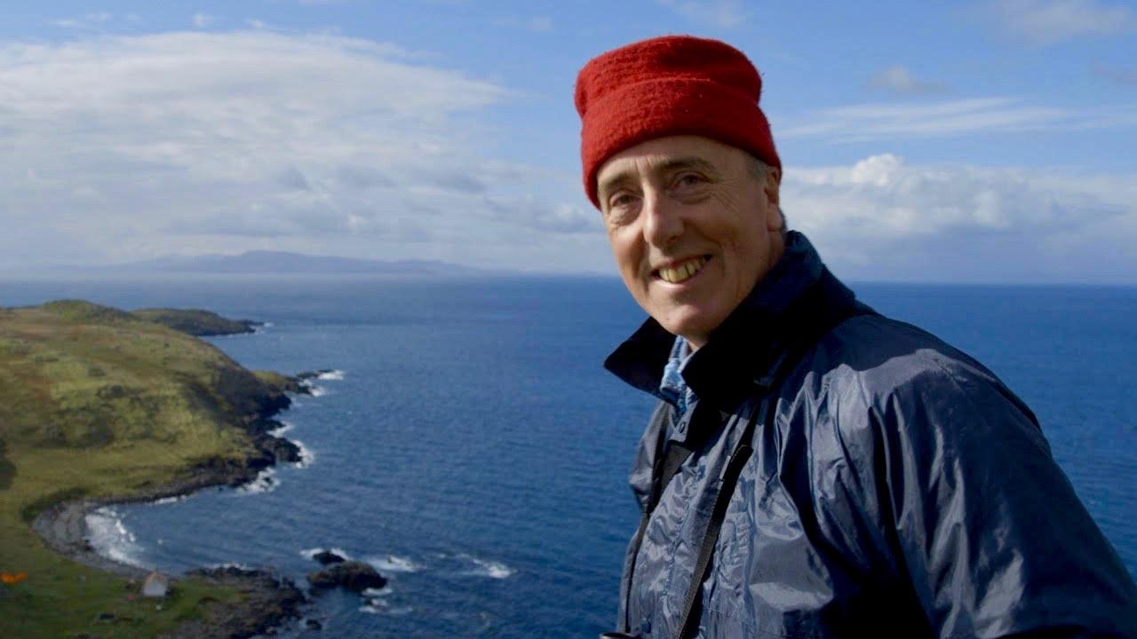 Adam Nicolson ashore on the Shiants. Photo by James Nutt.