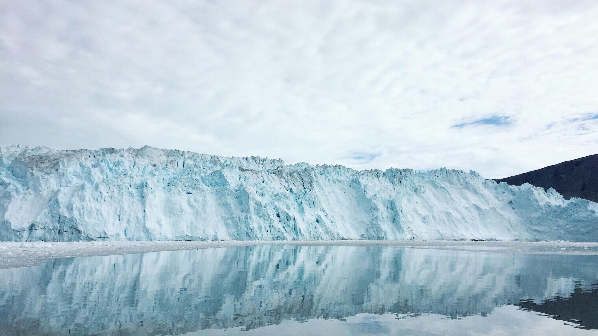 "Eqip Sermia, also known as ""Eqi Glacier"". Photo credit: Nancy Forde"