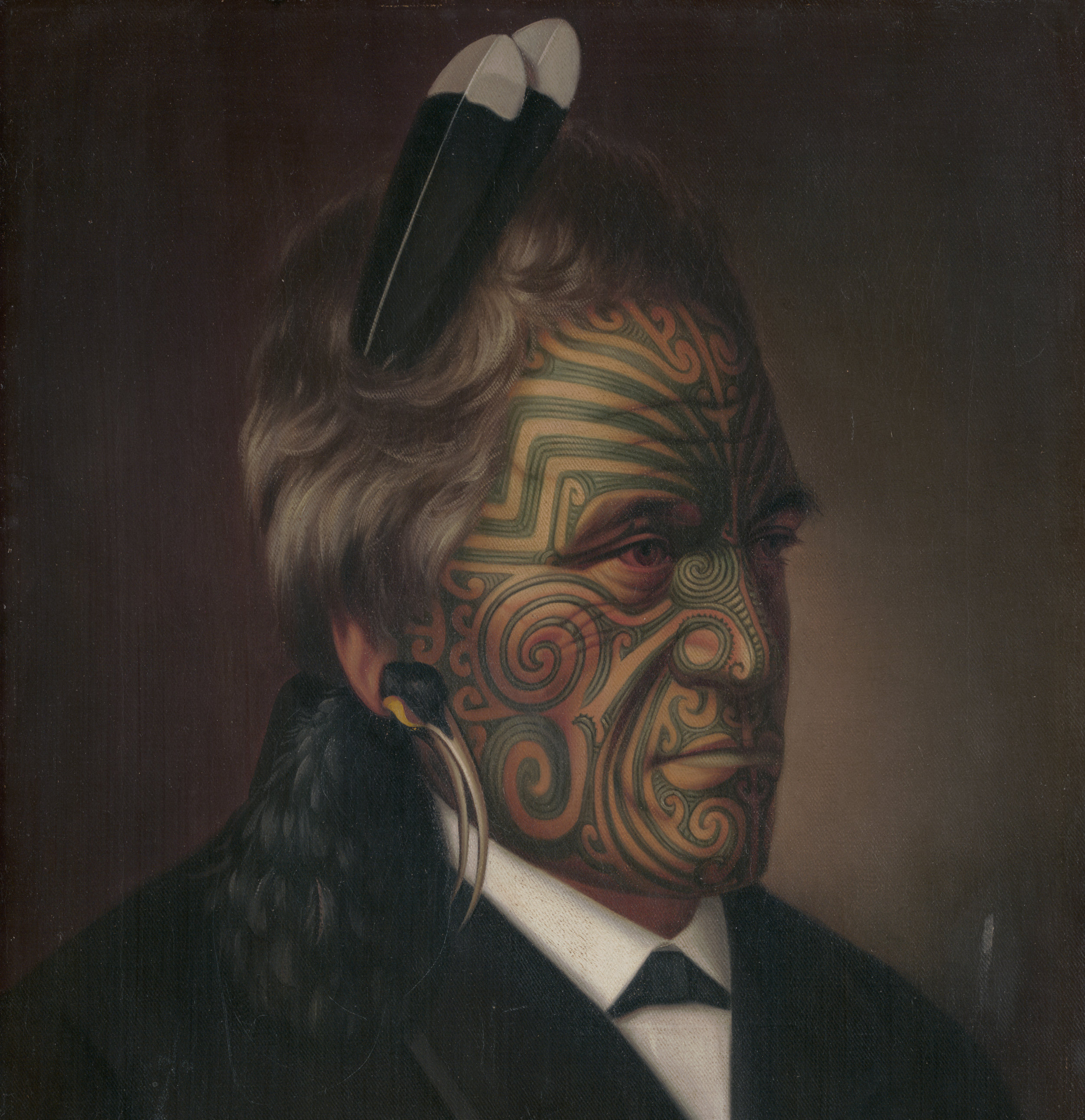 Gottfried Lindauer, Tomika Te Mutu, chief of the Ngāi Te Rangi tribe, Bay of Plenty, 1880