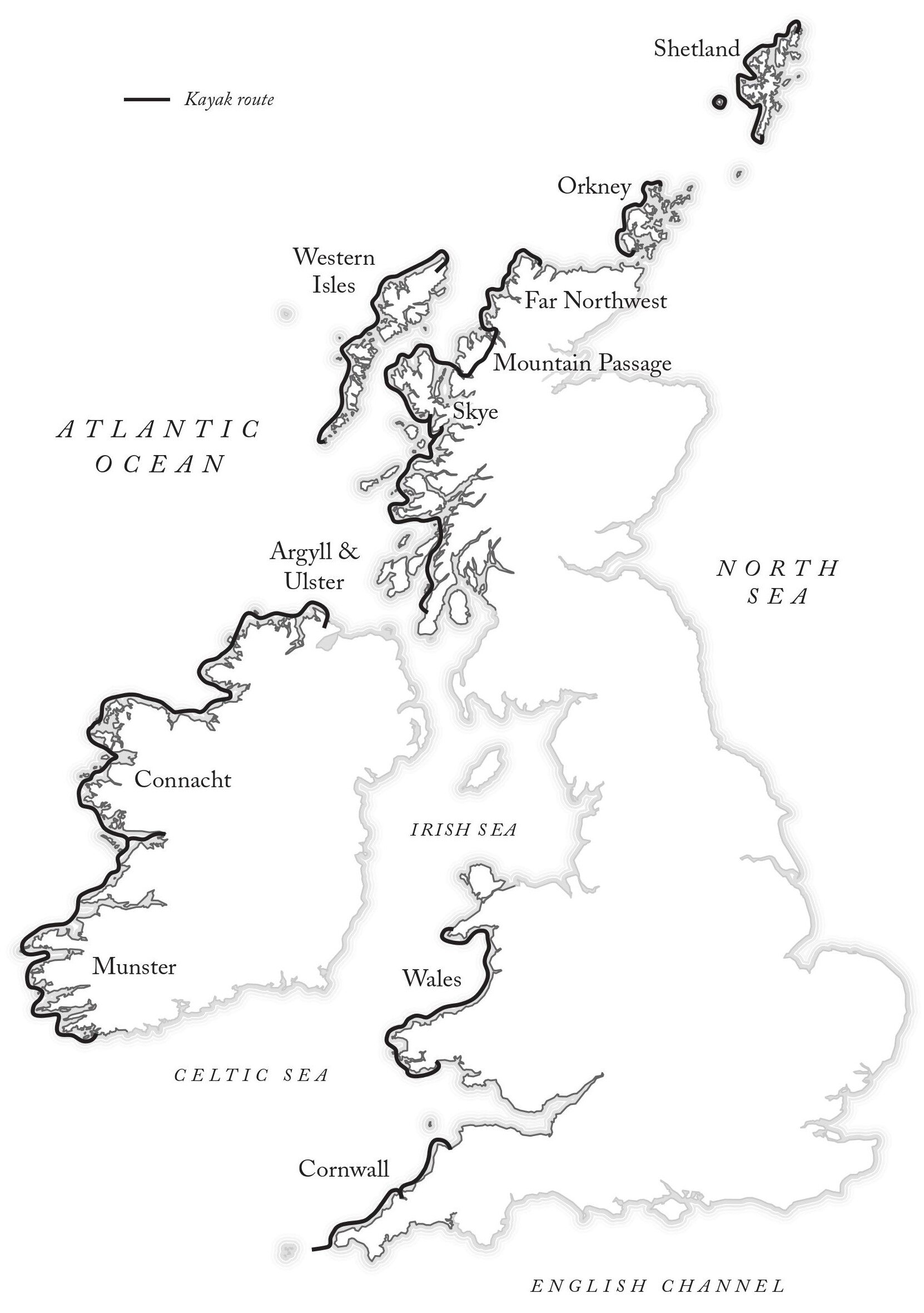 David Gange's route map from The Frayed Atlantic Edge