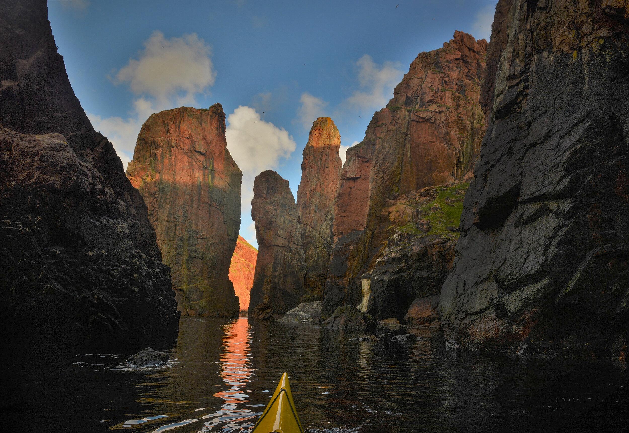 Sea stacks, Northmavine, Shetland