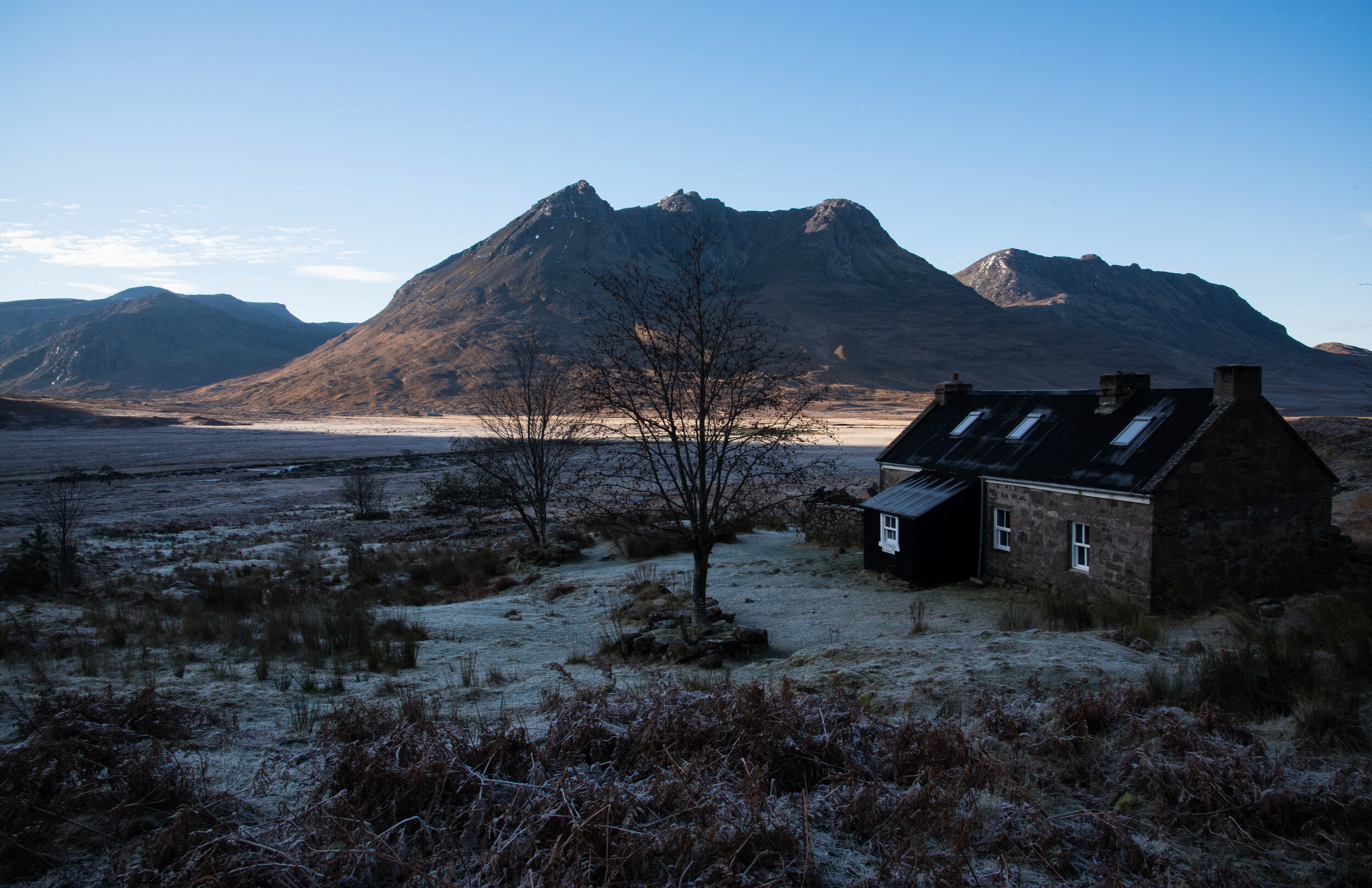 Sheenavall bothy, one of the author's favourite buildings
