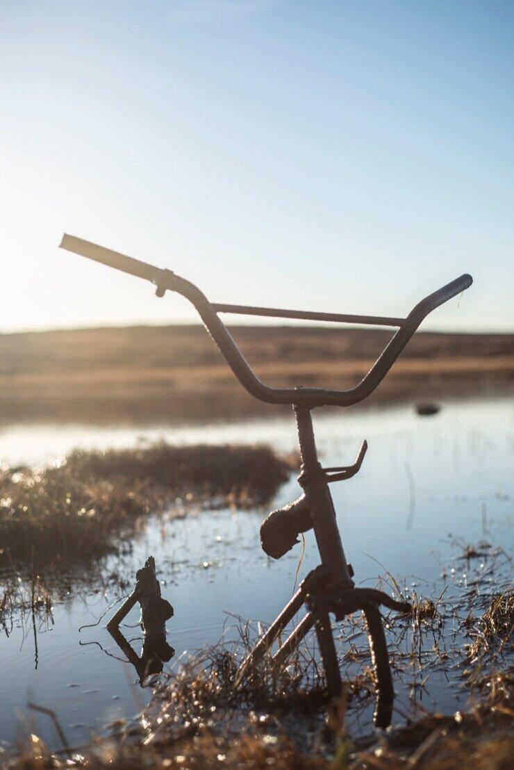 Rusted bicycle, Bragar, Isle of Lewis