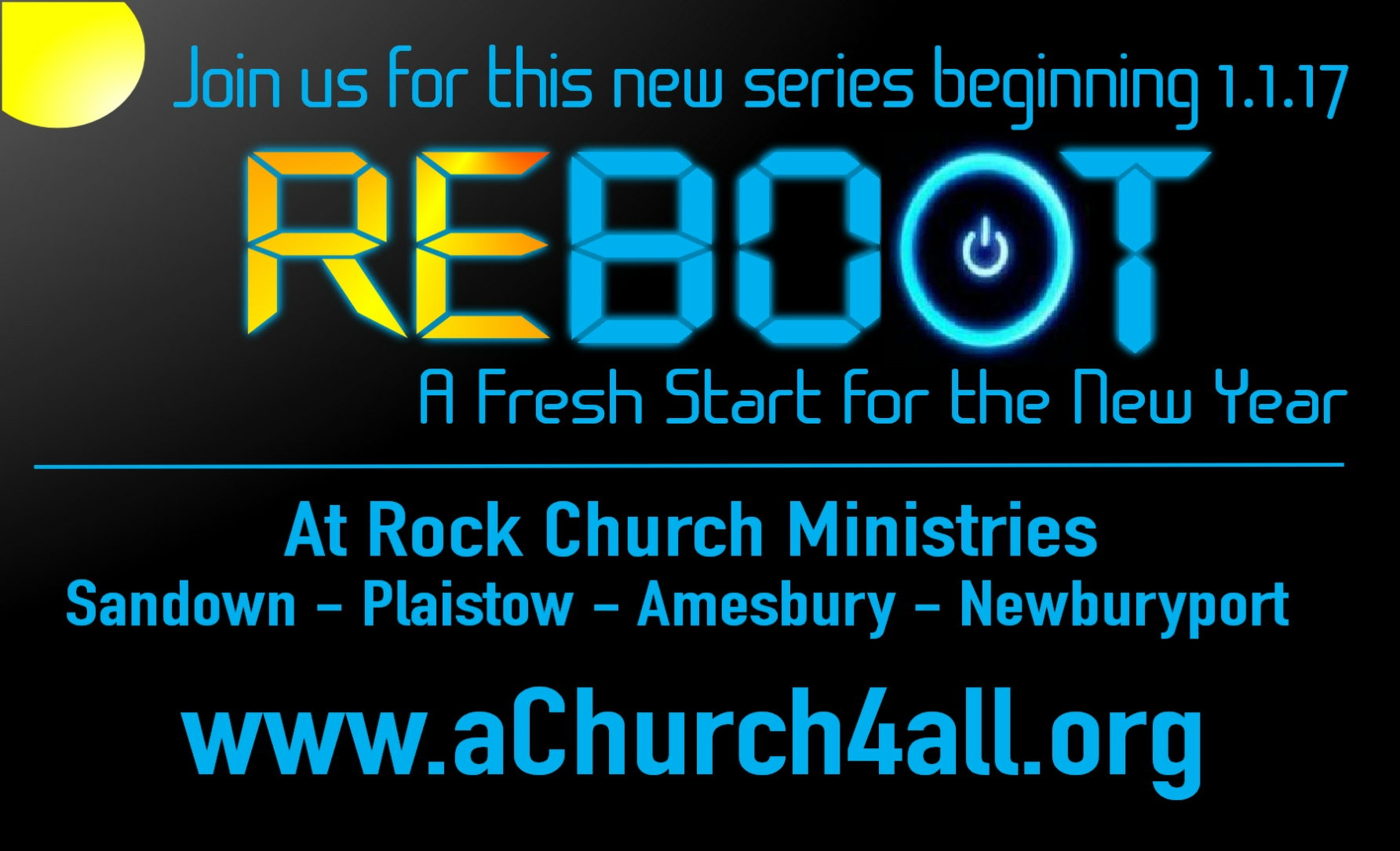 Join us for our new January teaching series: REBOOT!