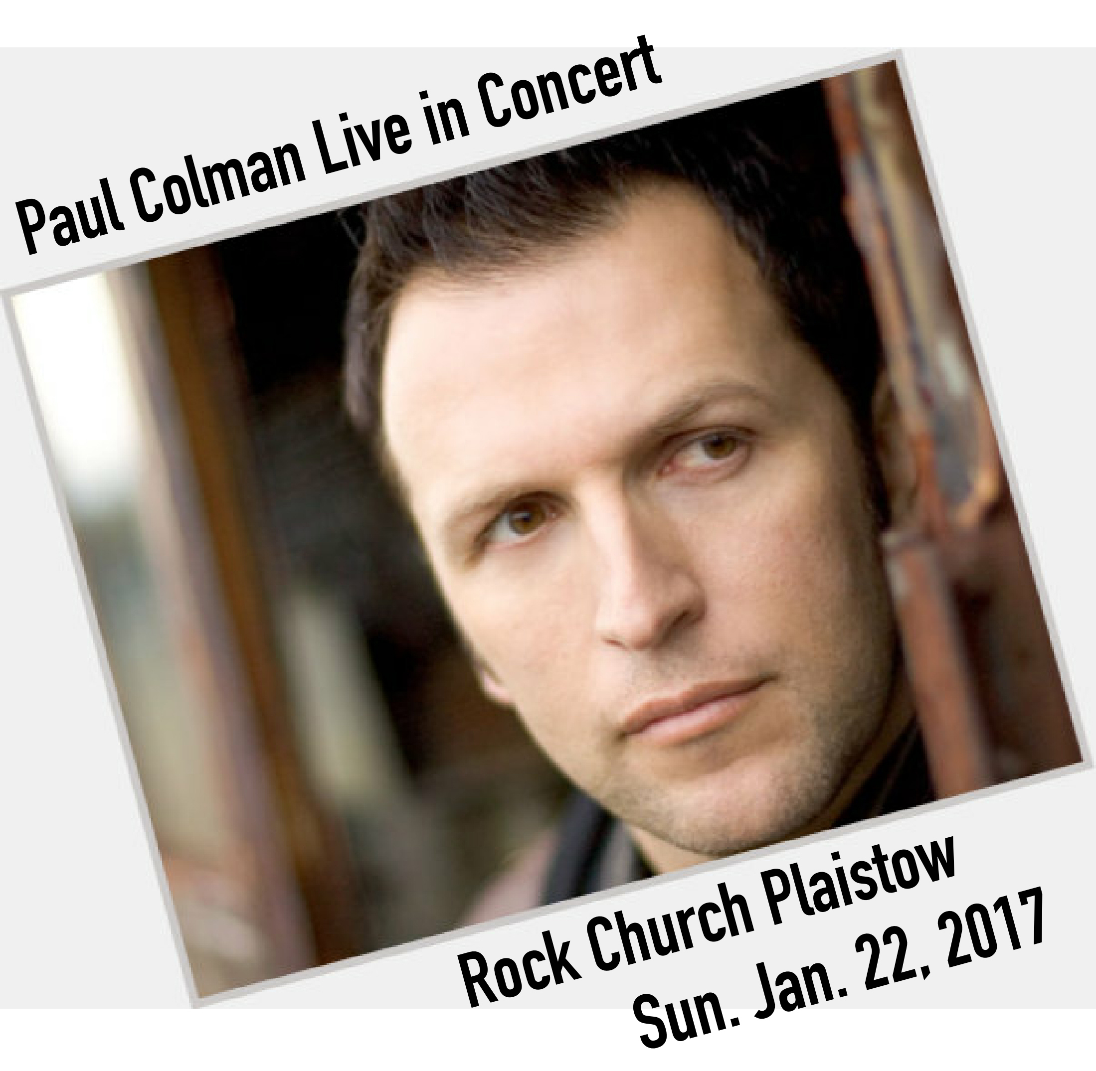 Don't miss Paul Colman in concert with us this Sunday night at 6:00 p.m.