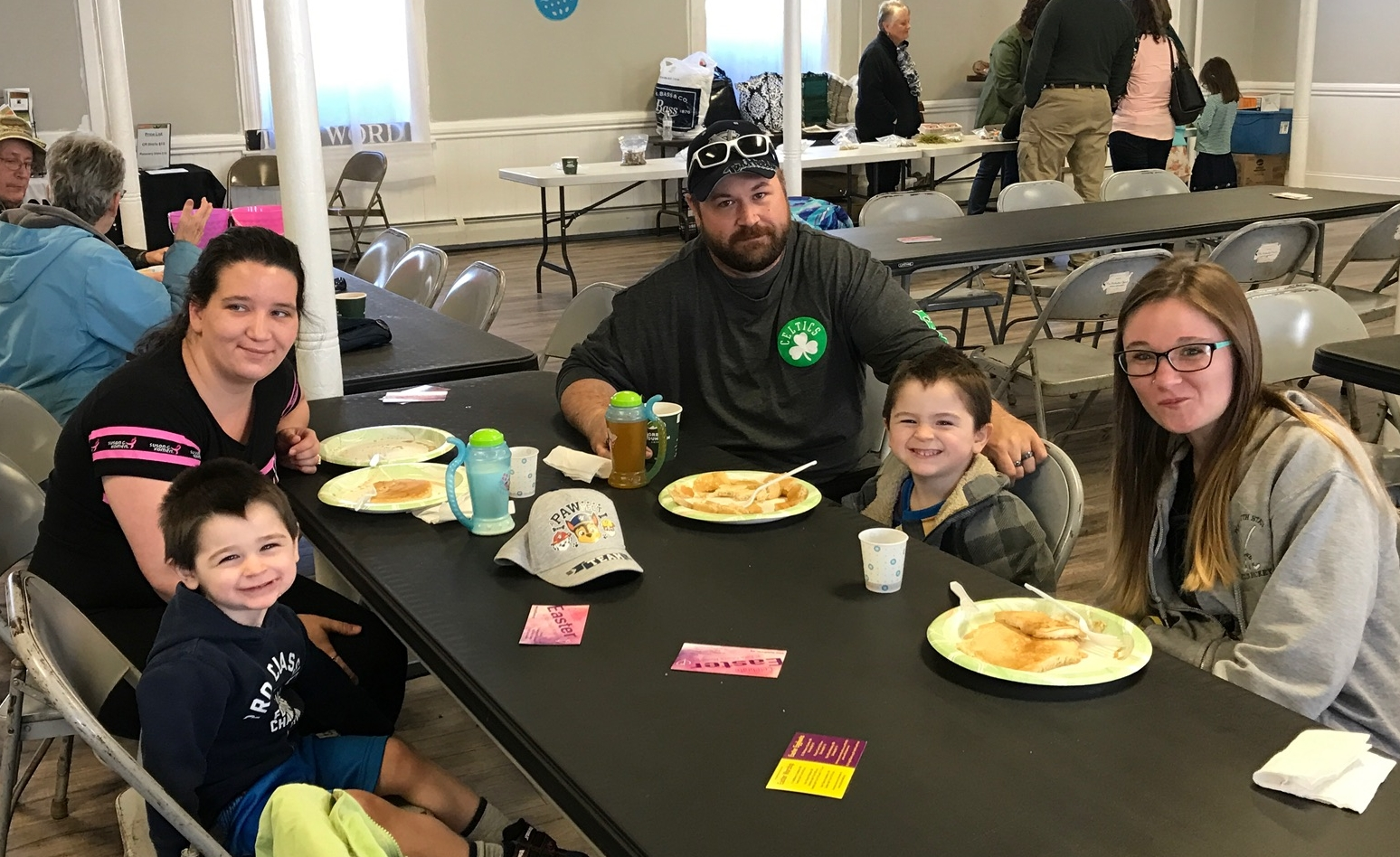 The Pancake Breakfast and Egg Hunt in Amesbury raised over $250 for the Amesbury PTO and blessed many families with the Good News of Jesus.