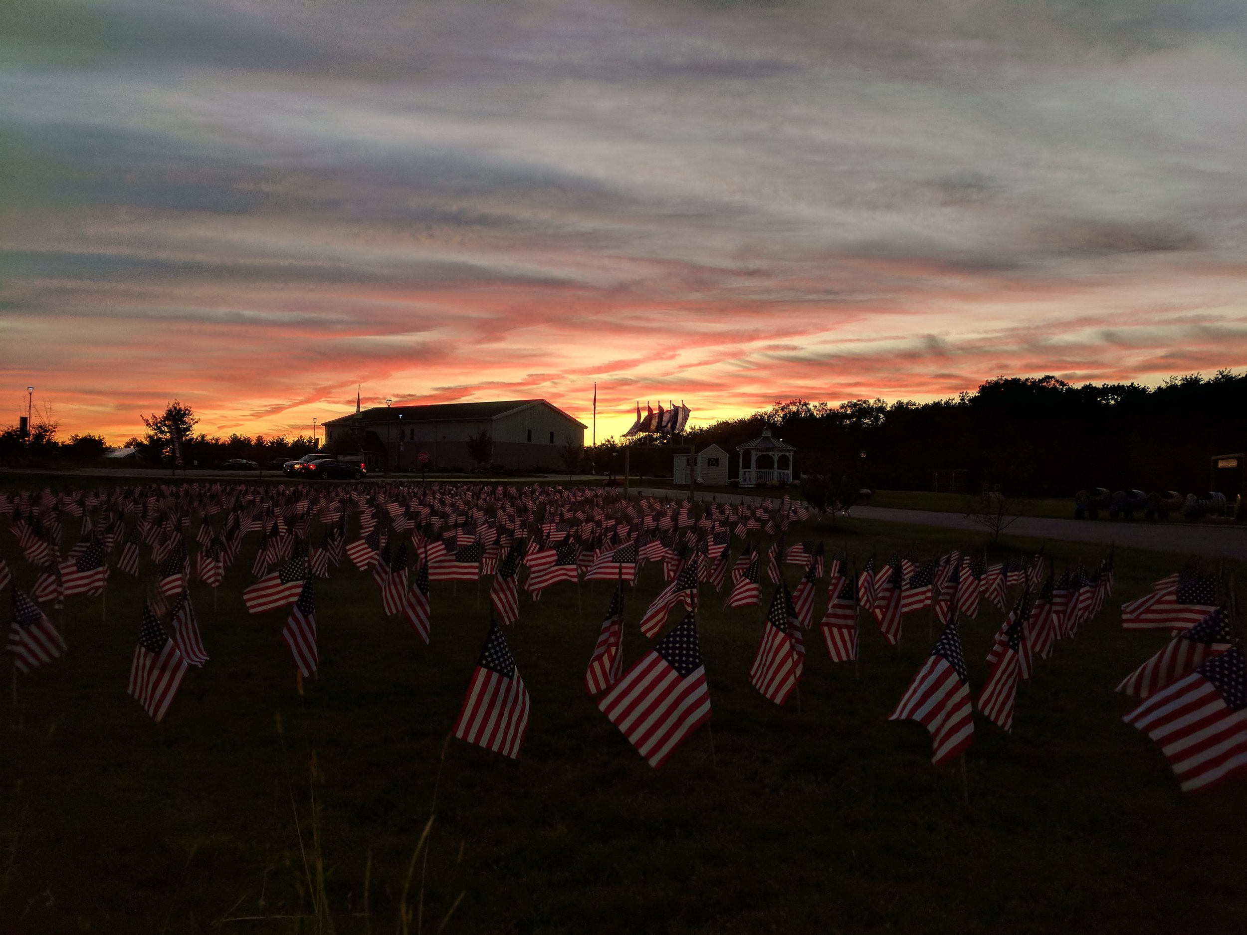Thank you to all who helped with set up for the Field of Flags!