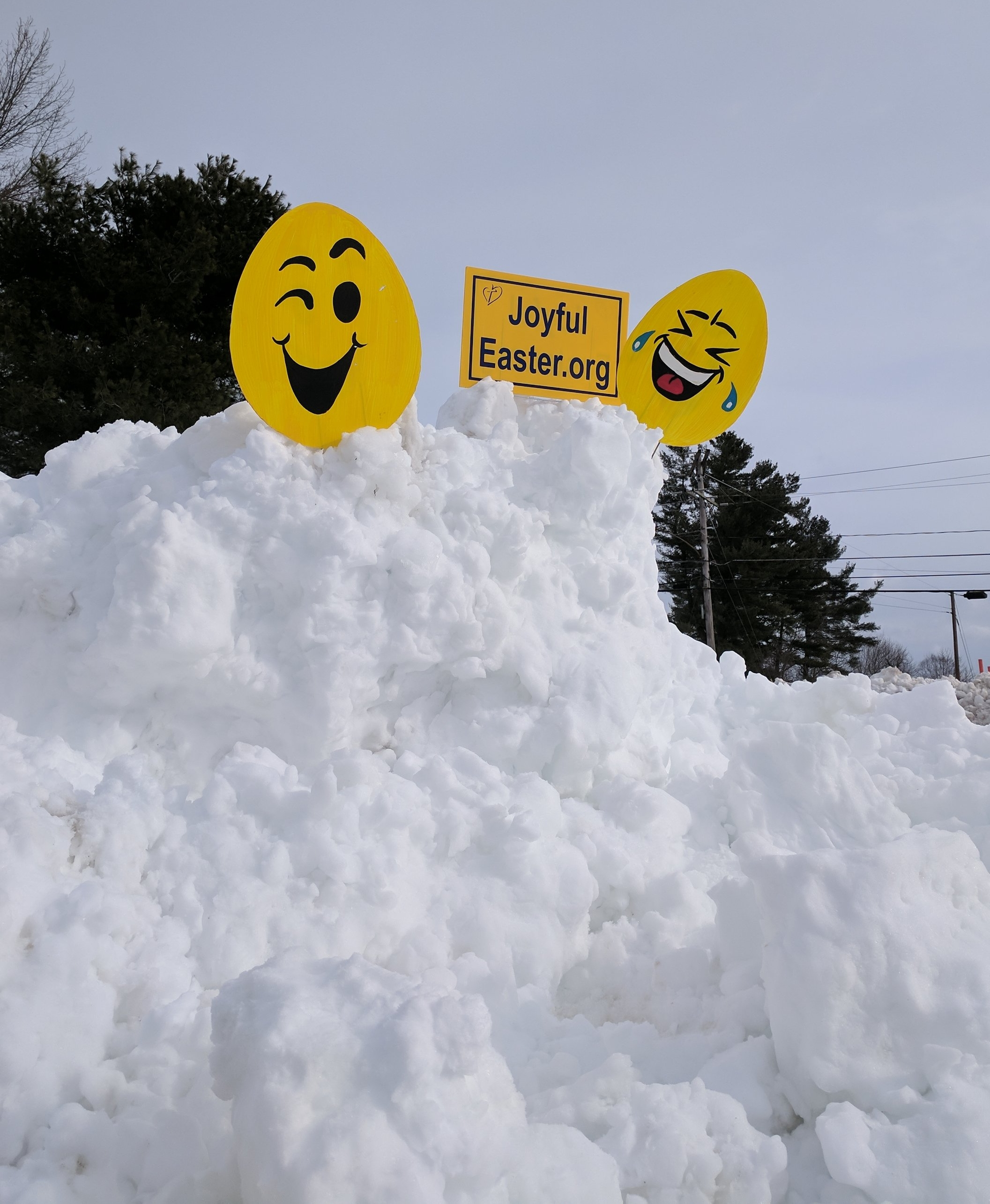 Have you dug out your Joyful Easter sign and put it back where it can be seen?