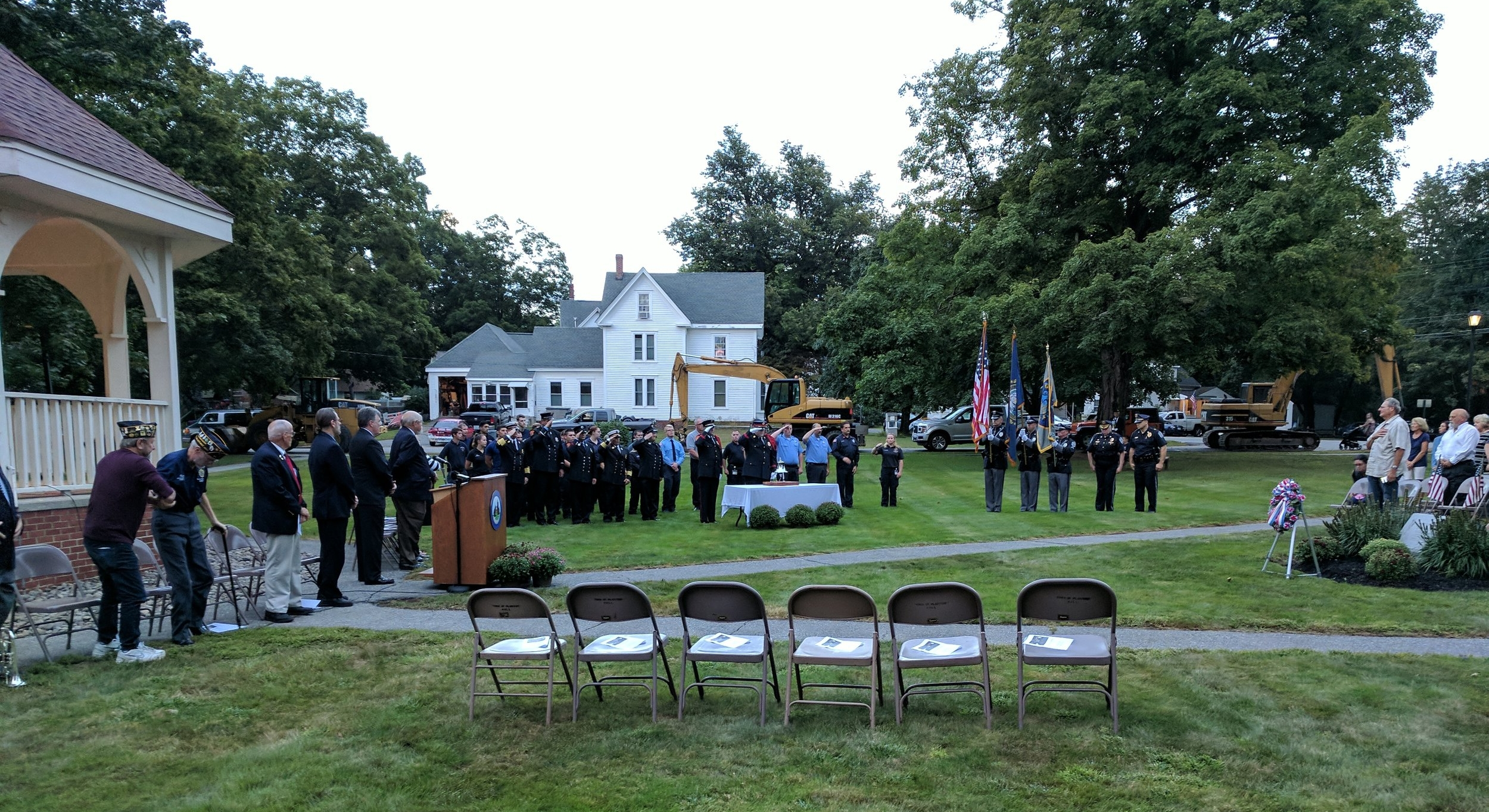 First Responders at the Plaistow 9-11 observance