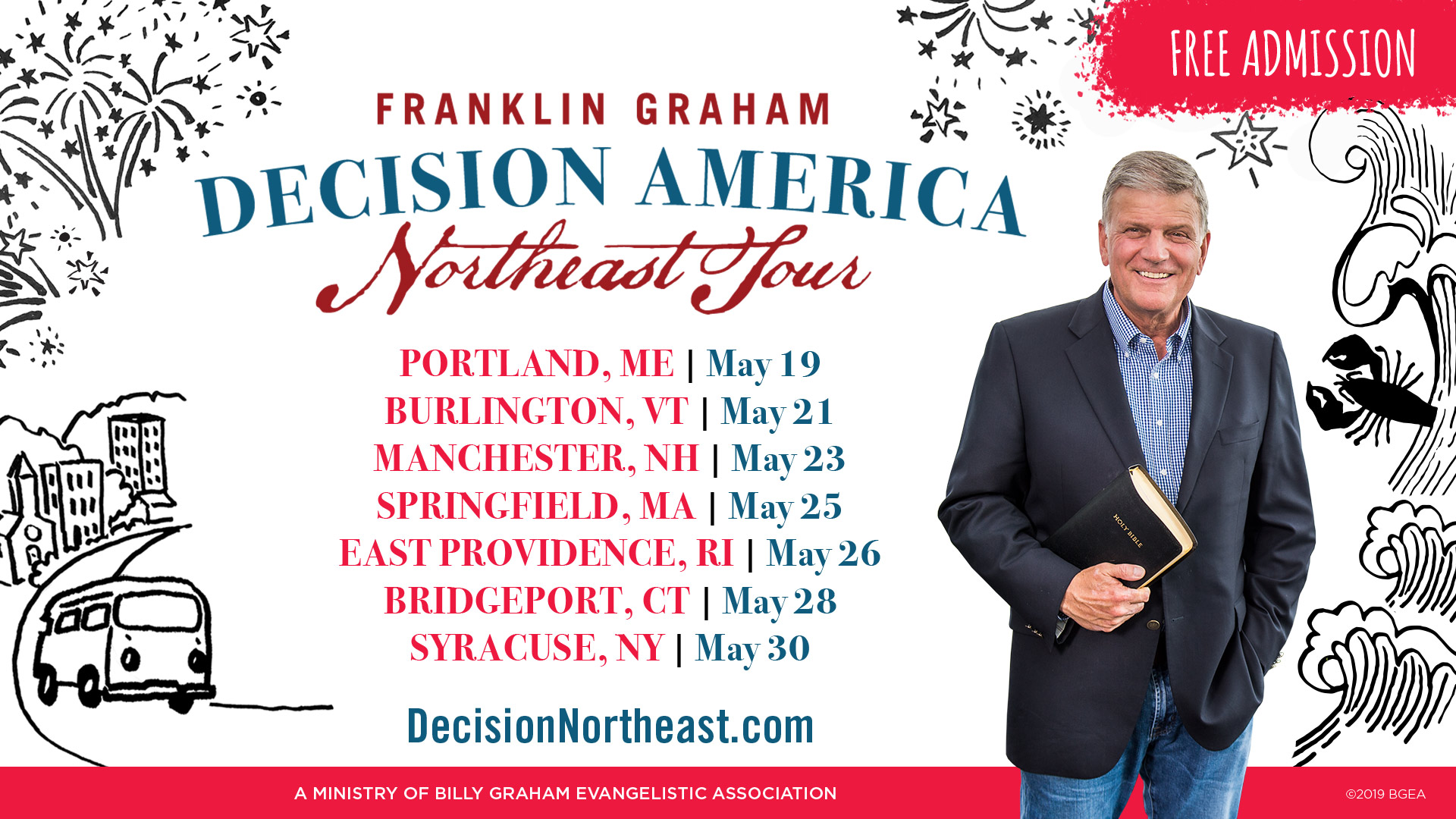 Mark your calendar: Thurs. May 23. Franklin Graham w/musical guest Dave Crowder.