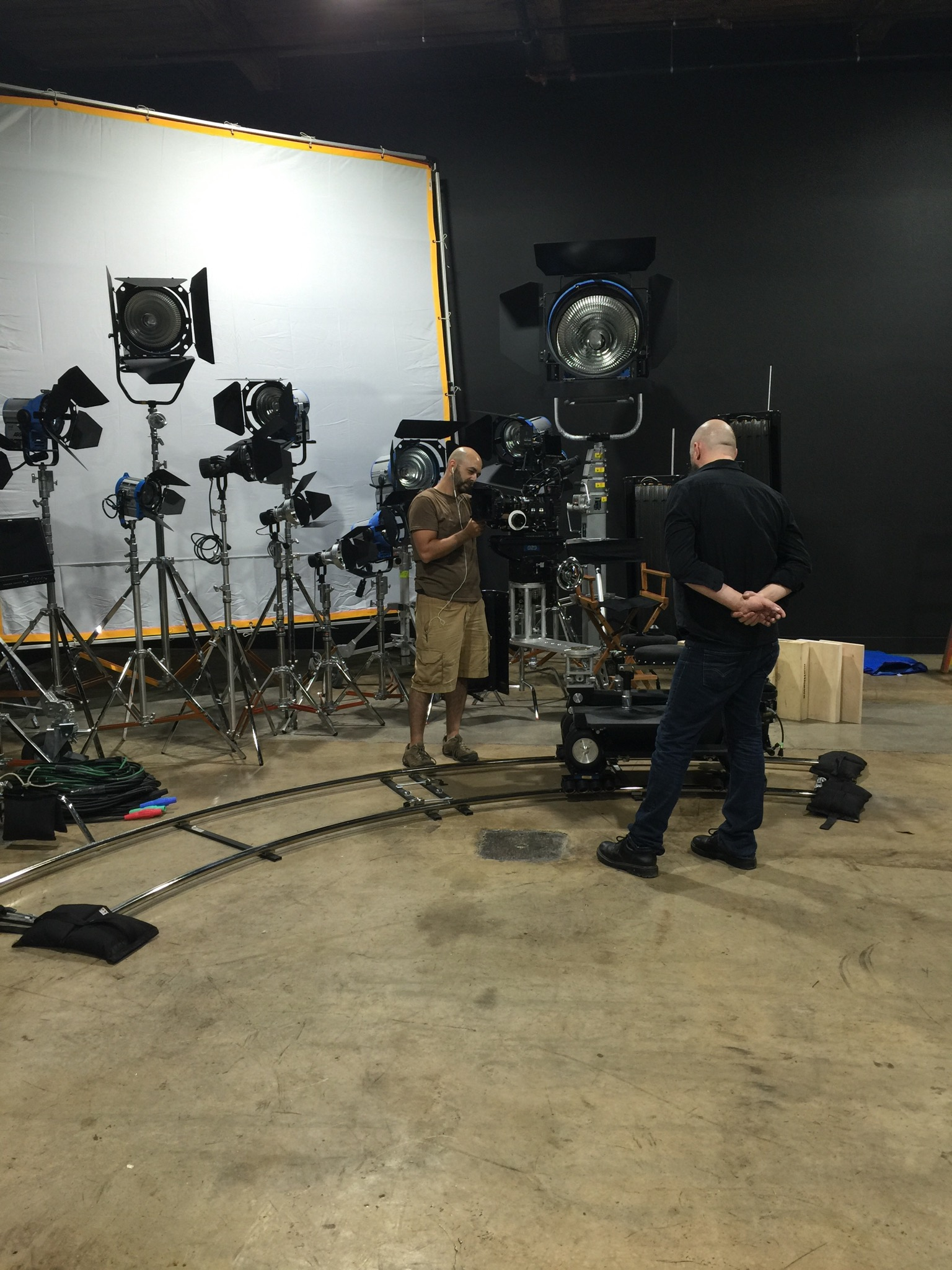 Film studio sound stage with Vector Dolly located at Blind Tiger Filmworks.