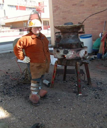 Pouring iron at New Mexico Highlands Univerisyt, 2009