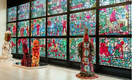 Raul de Nieves works at the Whitney Biennial, Matthew Carasella courtesy of the Whitney Museum