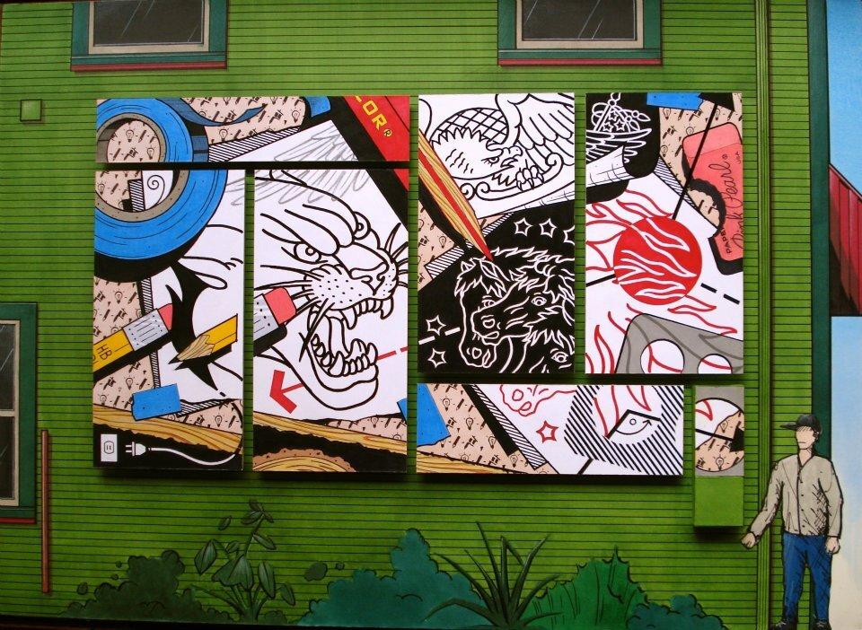 Historic Tattoo Society paneled mural proposal