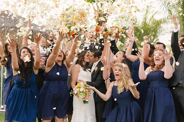 Petal shower for the win!! Ask your florist to bring extra petals for amazing pictures like this!
