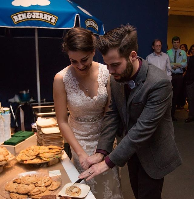 Who says you have to serve cake at your wedding? Why not homemade, secret family recipe cookies and ice cream?!
