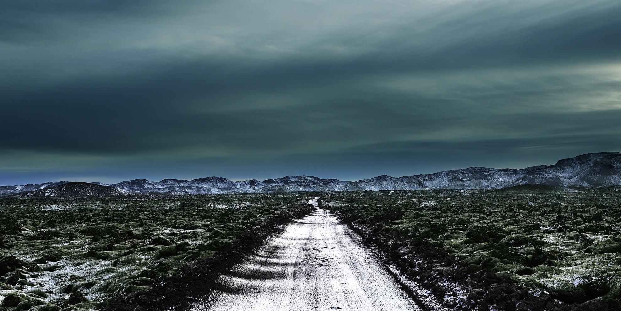 "Torfi Agnarsson, Gravel Road, 11"" x 14"""