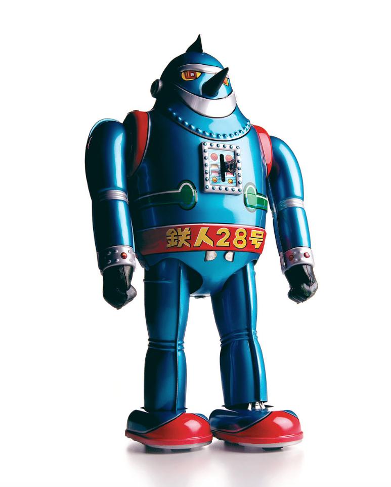 "Hunter Freeman, Blue Robot, 20"" x 16"""