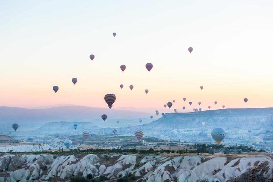 """LLaura Austin, Sunrise In Turkey, 16"""" x 24"""""""