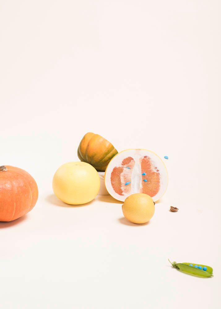"Julia Stotz, FruitSunsets, 14"" x 11"""