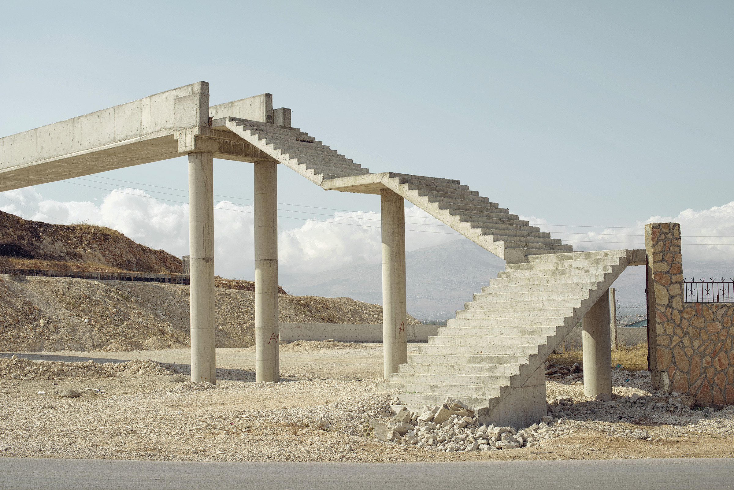 "Chris Sisarich, Stairs Lebanon, 14"" x 20"""
