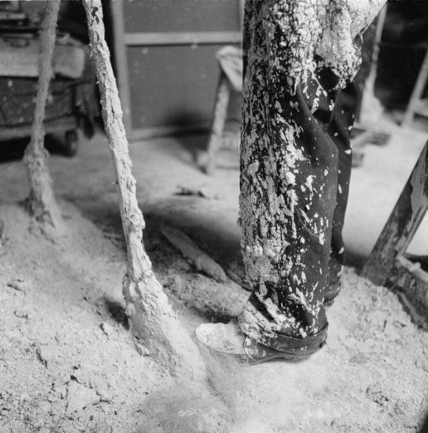 Giacometti's trousers, covered with plaster, ca. 1960Photographs by Ernst Scheidegger © 2017 Stiftung Ernst Scheidegger-Archiv, Zurich