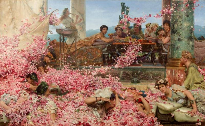 Sir Lawrence Alma-Tadema (1836-1912)  The Roses of Heliogabalus , 1888. Perez Simon Collection.   Photo Credit: https://www.rbkc.gov.uk