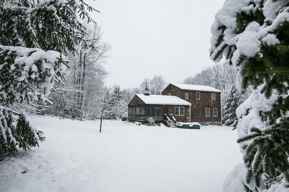 The Hubert House Catskills New York Winter Scene Pendulum Magazine