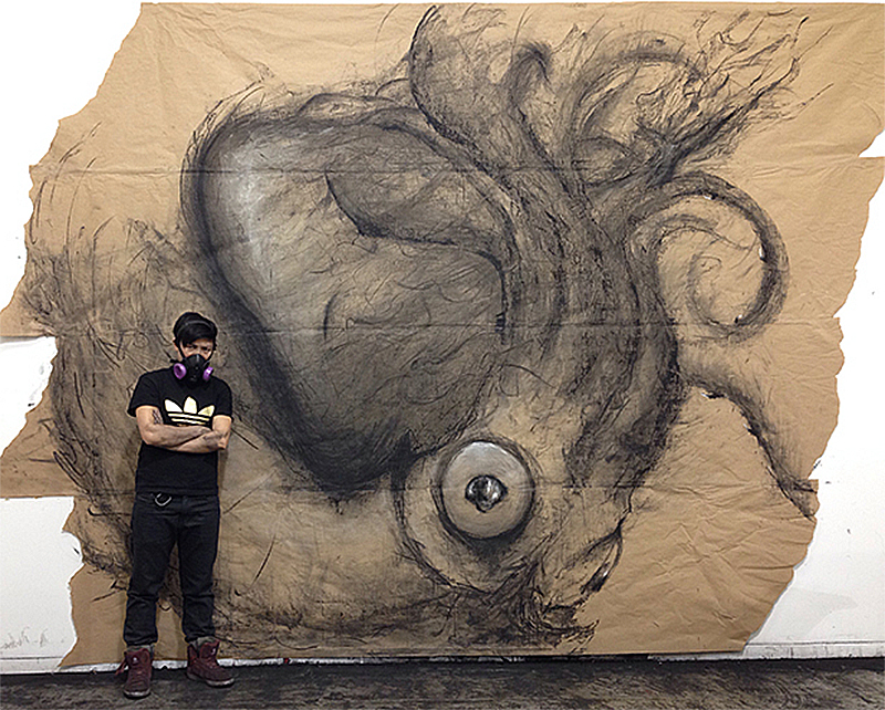 """""""Colossal Squid vs Sperm Whale"""" by Fiona Tang"""