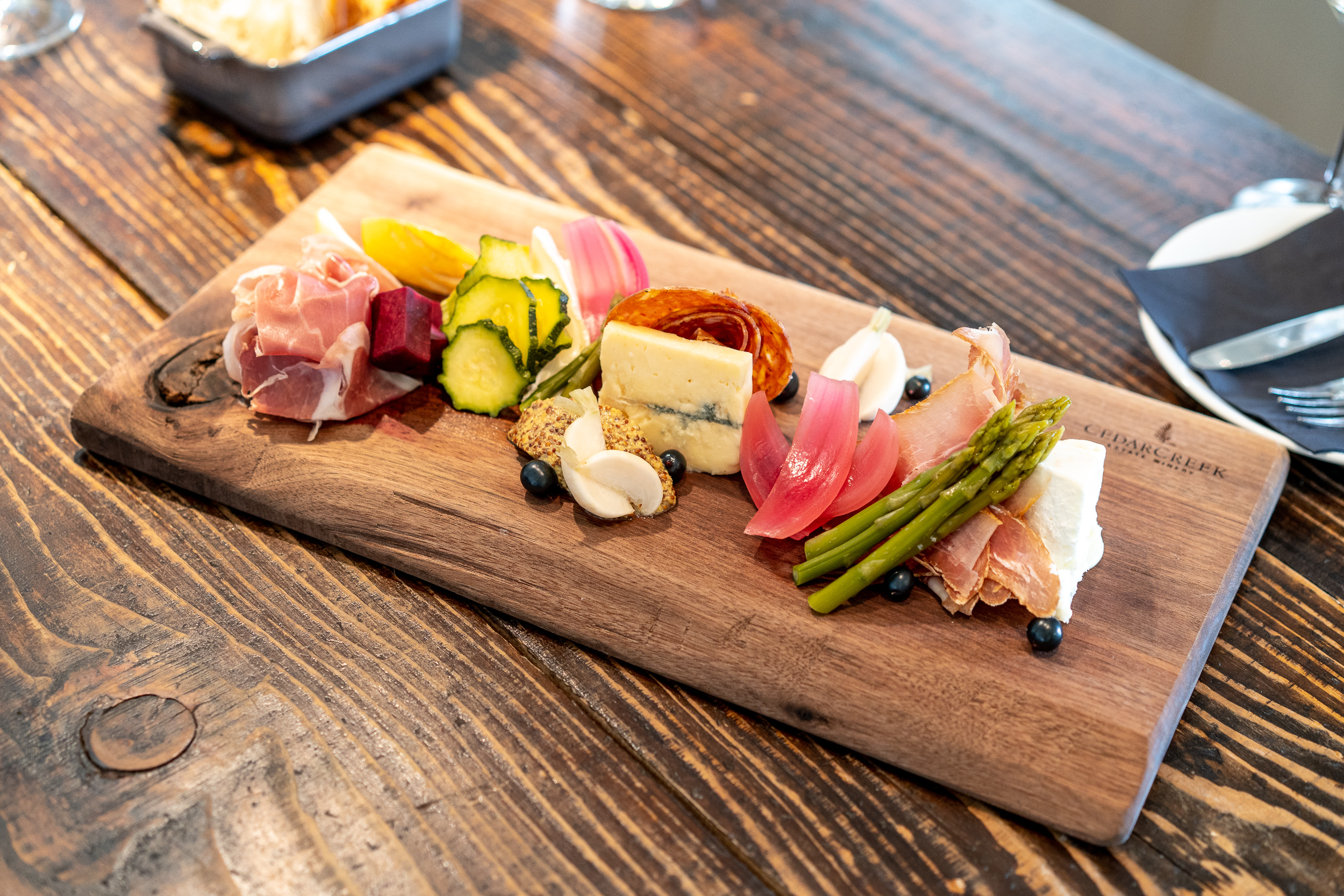 Charcuterie platter to go with our wine tasting experience.